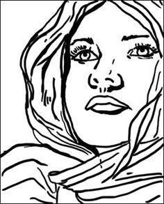 Roy Lichtenstein Pop Art Coloring Pages
