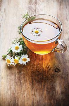 Chamomile Tea In Clear Mug カモミールティー in クリアマグ