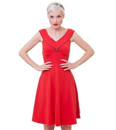 hello happiness dress vintage red | XS