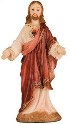 Sacred Heart of Jesus Statue from the Florentine Collection Sacred Heart Statue Resin Virgin Mary Statue, Heart Of Jesus, Sacred Heart, Saints, Statues, Collection, Dresses, Products, Fashion