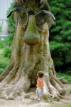 Upcycle tree  show this to kids they will get a kick out of it