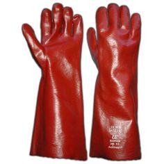 "PVC Open Cuff Gloves, 16"""