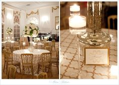 Gold + White Tablecloth