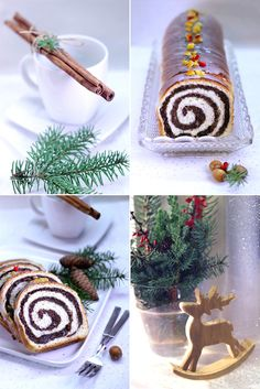 strucla makowa drożdżowa Christmas Desserts, Rum, December, Cookies, Table Decorations, Baking, Cake, Recipes, Food
