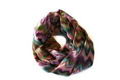 Chevron Infinity Scarf Colorful Print Scarf Fashion by makinitmama, $24.00