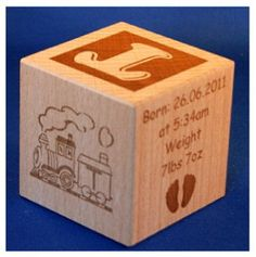 New Born Baby Gift Personalised Big Building Blocks Christening Gift 60mm
