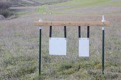Our Steel Target brackets are an inexpensive and easy way to hang steel targets using t post. Heavy duty galvanized steel construction and made in the USA. Steel Shooting Targets, Steel Targets, Archery Targets, Steel Target Stands, Range Targets, Kayak Fishing, Saltwater Fishing, Reloading Bench, Deer Hunting Blinds