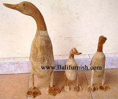 Bamboo ducks from Indonesia Bamboo root ducks in various sizes Made in Indonesia Bali Furniture, Buy Bamboo, Garden Art, Paradis, Ducks, Wood, Painting, Style, Objects