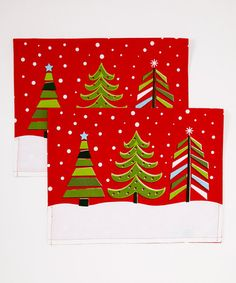 Take a look at this Winter Trees Dish Towel - Set of Two by Design Imports on #zulily today!