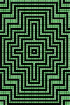 Artwork by at Grid Paint. Graph Paper Drawings, Graph Paper Art, Paper Collage Art, Weaving Patterns, Mosaic Patterns, Quilt Patterns, Minecraft Pattern, Pixel Pattern, Blackwork Patterns