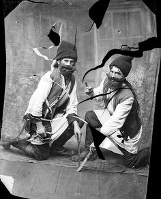 Dying way of life: Ascinte's images offer a glimpse into a culture, such as the traditional peasant dress worn by the men in this image, tha...