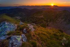 Východ slnka nad Vysokými Tatrami