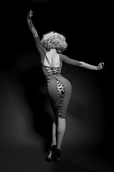 Laurie Hagen wearing the Agent Provocateur Thora dress. Photo by Michel Dierickx, Feb 2012.  Love this photo!