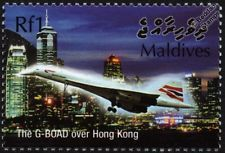 British airways concorde g-boad (hong kong) supersonic avion avion timbre
