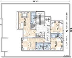 تصميم فيلا من مبادرة حساب تصميم مهندس يحيي زنقوطي Square House Plans Family House Plans New House Plans