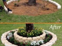 12 Creative DIY Ideas you are sure to Love! – My Incredible Recipes Landscaping Along Fence, Backyard Landscaping, Landscaping Ideas, Backyard Ideas, Diy Tree Rings, Painted Tires, Garden Floor, Hummingbird Garden, Alpine Plants