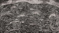 全て手作業、数千枚のモノクロ写真を繋ぎあわせた壮大な写真作品「Diorama Map」