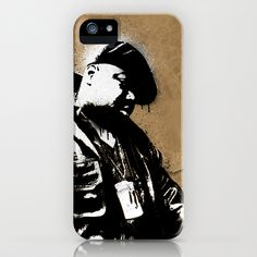 The Notorious B.I.G. - Biggie Smalls iPhone Case by HeyTrutt - $35.00