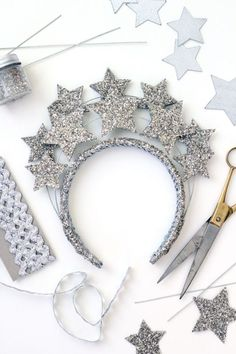 DIY New Year's Eve Star Crown