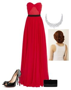 A fashion look from December 2015 featuring red evening gowns, high heel shoes and summer purses. Christian Louboutin, Michael Kors, Female, Clothes For Women, 21st Century, My Style, Polyvore Fashion, Red, Women's Clothing