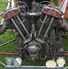 Morgan Engine Detail 3 - Matchless V-Twin