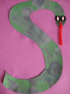 """Letter Of The Week """"S"""" is for """"Snake""""  #preschoolers #crafts"""