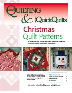 Mccalls Christmas quilt patterns