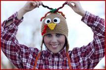 10 FREE Crochet Turkey Hat Patterns: Turkey Hat FREE Crochet Tutorial