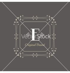 Vintage frame - monogram or calligraphic design vector- by woodhouse84 on VectorStock®