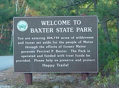 Baxter State Park, Maine one beautiful drive thru the forest