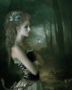 Elena Dudina is a talanted graphic artist from Spain. Her beautiful artworks are great combination of magic fantasy and dark emotions. And what the photo Fantasy Art Women, World Of Fantasy, Dream Fantasy, Art And Illustration, Art Illustrations, Mystique, Fantasy Kunst, Animation, Gothic Art