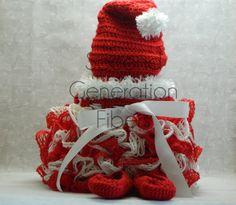 Christmas skirt baby ruffle skirt toddler by 2ndgenerationfibers