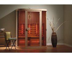 Setzen Sie sich in die Infrarotkabine Safir und atmen Sie den natürlichen Duft des Holzes ein. Infrarotkabinen helfen bei verschiedenen Krankheiten wie z.B. grippale Infekten, Verspannungen oder Hauptprobleme. Ein Highlight dieser Kabine ist die eingebaute Lichttherapie. #infrarot #infrared #sauna #therapy #wellness #bathroom Liquor Cabinet, Modern, Sauna, Storage, Furniture, Wellness, Home Decor, Light Therapy, Red Lights