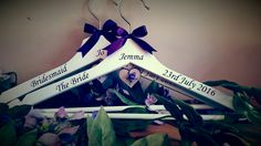www.facebook.com/customisedbysharon www.etsy.com/shop/customisedbysharon www.customised-by-sharon.co.uk #wedding #weddinghangers #bridalhangers #personalisedhangers #bridesmaidgifts #bridesfreewhenyoubuy3ormore #flowergirlhangers #customisedbysharon #madewithlove #cadburypurple