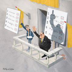 "The Revolutionary's ""victory http://www.boredpanda.com/sarcastic-cartoons-petry-crisan/"
