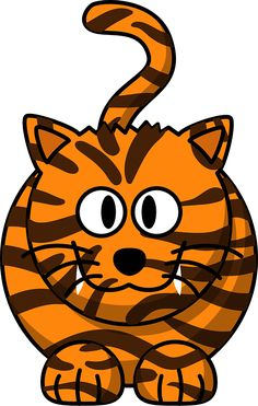 Cartoon Tiger by mmathieu - A tiger based on a leopard Cartoon Tiger, Baby Cartoon, Cartoon Jungle Animals, Cute Animals, Tiger Images, Elephant Images, Cat Urine, Cartoon Wallpaper, Cool Cartoons