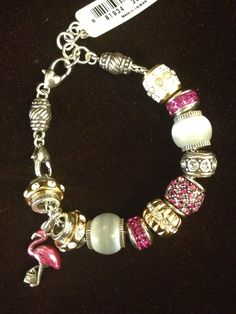 Pink flamingo!  Brighton charms and bracelet