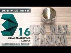 3DS MAX 2015 Tutorial básico 16 - Crear Materiales básicos - En español - YouTube