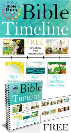 Free Bible Timeline for Kids!  200+ full color printable timeline cards from Bible and World History Events.  Spans from Creation through the Resurrection.  Free from BibleStoryPrintables.com  http://www.biblestoryprintables.com/BibleTimeLine