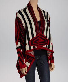 Red Peruvian Diamond Sidetail Sweater