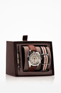CHRONOGRAPH WATCH WITH DOUBLE STRAP - Massimo Dutti