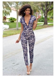 Lace jumpsuit...i'd love to wear this!!