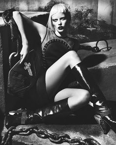 Elza Luijendijk is Gothic Glam for Versace's Fall 2012 Campaign by Mert & Marcus