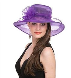 6516acf1e39fa Women s Organza Church Kentucky Derby Fascinator Bridal Tea Party Wedding  Hat Bridal Fascinator