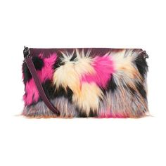 French Connection Women's Georgina Feather Clutch Bag - Burgundy/Multi... ($49) ❤ liked on Polyvore featuring bags, handbags, clutches, studded shoulder bag, imitation handbags, burgundy clutches, faux-leather handbags and french connection purse