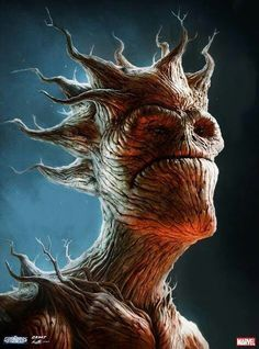 Groot for guardians of the galaxy