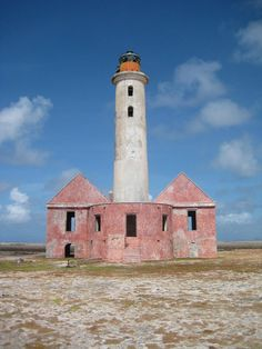 The uninhabited island of Klein Curaçao (Little Curaçao) is located south east of the island Country of Curaçao, with the lighthouse residing in the midst of the tiny island.