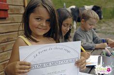 Le diplôme du petit cavalier à obtenir à la Ferme du Cheval Rouge - St Sulpice le Dunois - Crédits : ADRT23©J.Damase