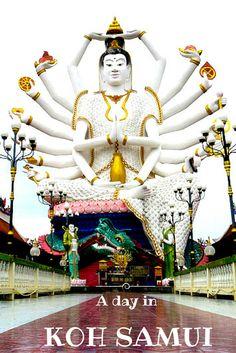 A day in Wat Plai Laem, Koh Samui