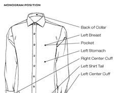 Proper Cloth: camisas made to measure online Mens Monogram, Bespoke Tailoring, Dress Shirts, Detail, Drawing, Patterns, Deco, Fashion, Monograms